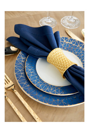 Sferra Hemstitch Cocktail Napkins, Set of 6 Hemstitch Dinner Napkins, Set of 4
