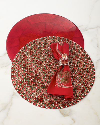 Capiz Round Solid Placemat  and Matching Items