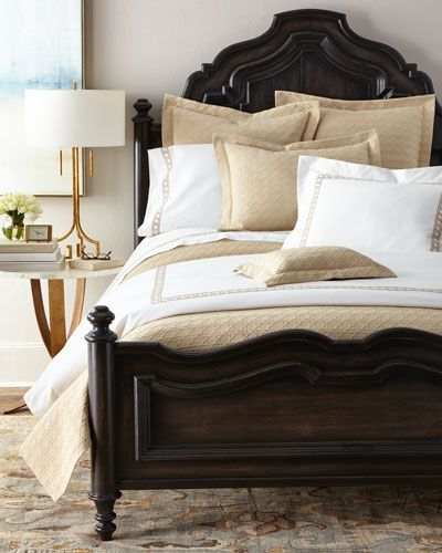 King 4-Piece Cane-Embroidered 400 Thread Count Sheet Set and Ma Thread Counthing Items