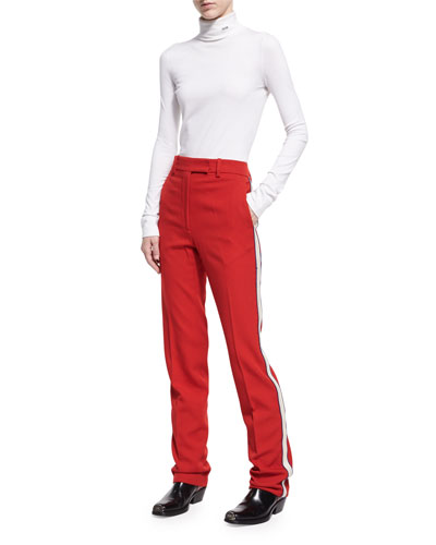 Side-Stripe Wool Twill Pants and Matching Items