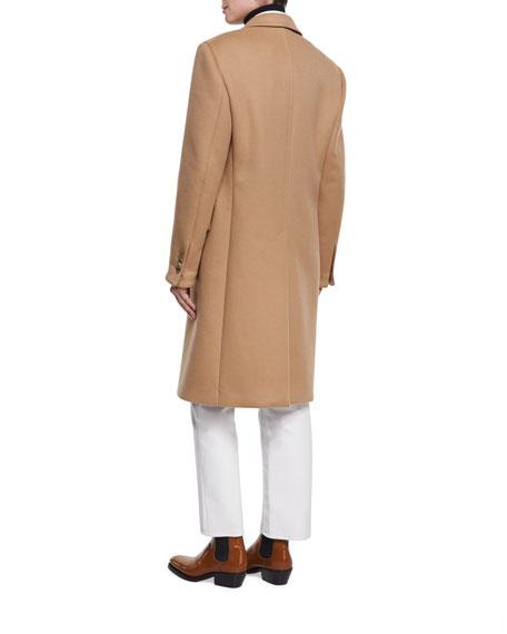 Double-Face Virgin Wool Single-Breasted Coat