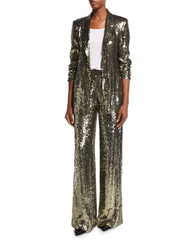 Jace Sequin Shawl-Collar Oversized Blazer and Matching Items