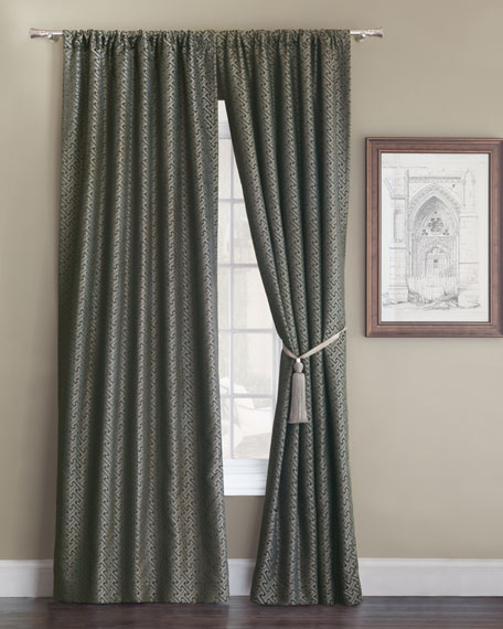 """Eastern Accents Roscoe Rod Pocket Curtain Panel, 96""""L"""