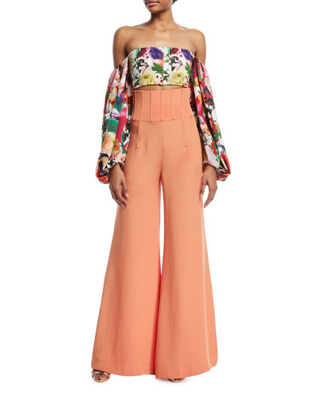 Jade High-Waist Wide-Leg Pants