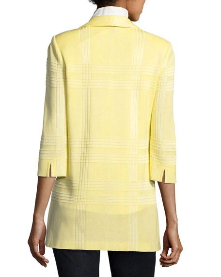 Sleeveless Stretch-Cotton Shirt, Plus Size