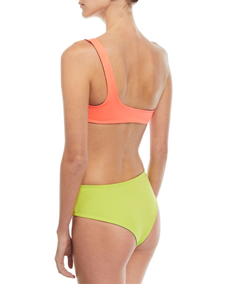 Isabeli One-Shoulder Reversible Swim Top