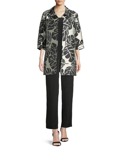 Palm Paradise Jacquard Party Jacket and Matching Items