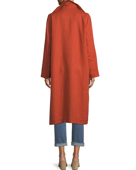 Heavy Organic Linen Trench Coat