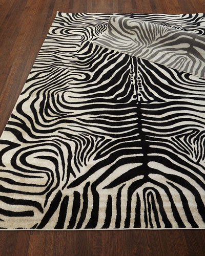 Dariya Power-Loomed Zebra Rug  3.9' x 5.9'  and Matching Items