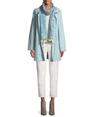 764eadce2d Eileen Fisher Petite Hooded A-Line Long Outerwear Jacket Petite Silk Jersey  Long Slim Camisole