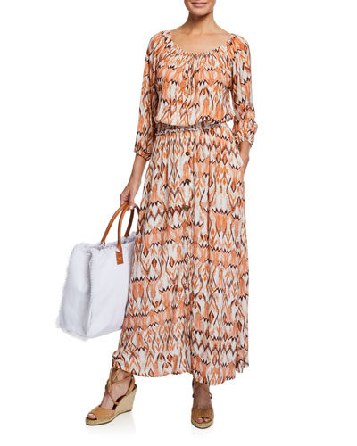 Daisy Printed Button-Front Coverup Skirt and Matching Items