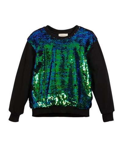 Sequin-Front Sweatshirt, Size 4-6  and Matching Items