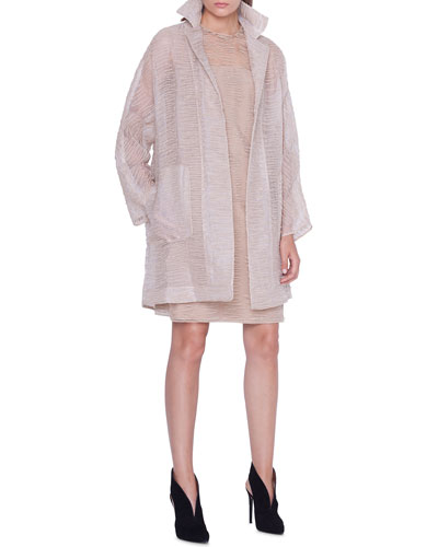 Badia Scribble-Embroidered Coat and Matching Items