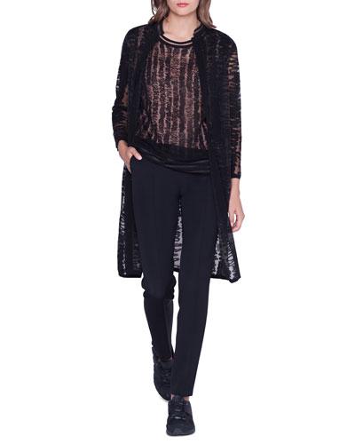 Jacquard Linen-Silk Cardigan and Matching Items