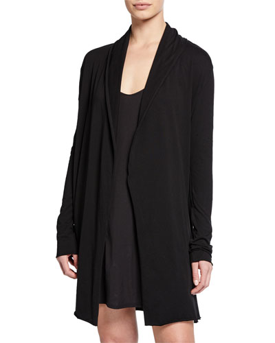 Short Pima Cotton Wrap Robe and Matching Items