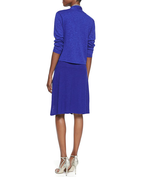 Eileen Fisher Petite Open-Front Cropped Straight Cardigan