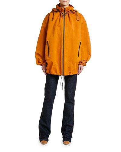 Nylon Zip-Front Anorak Blouson Jacket and Matching Items
