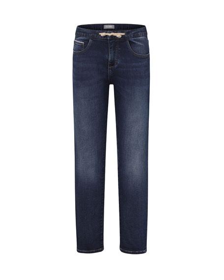 DL1961 Premium Denim Boys' William Drawstring Track Denim Pants, Size 2-7
