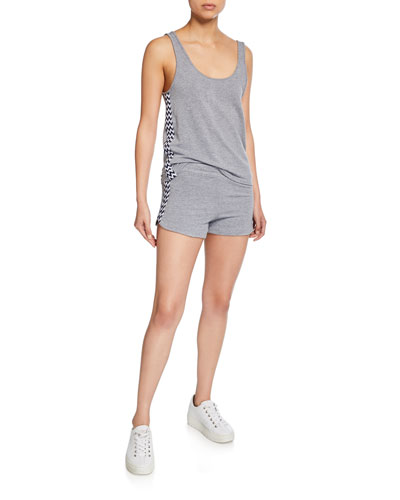 Loose Scoop-Neck Tank w/ Zigzag Trim and Matching Items