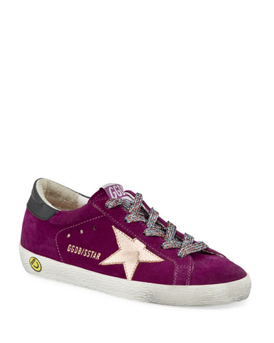 Girl's Superstar Suede Metallic Star Sneakers  Baby/Toddler  and Matching Items