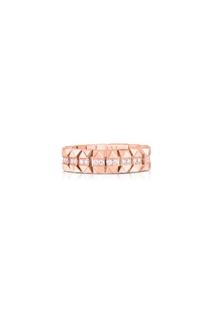 Roberto Coin Rock and Diamonds 18k Rose Gold Diamond Ring, Size 6.5 Rock and Diamonds 18k Rose Gold Diamond Ring, Size 6 Rock and Diamonds 18k Rose Gold Diamond Ring, Size 7