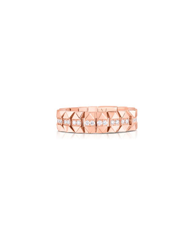 Rock and Diamonds 18k Rose Gold Diamond Ring  Size 6.5 and Matching Items