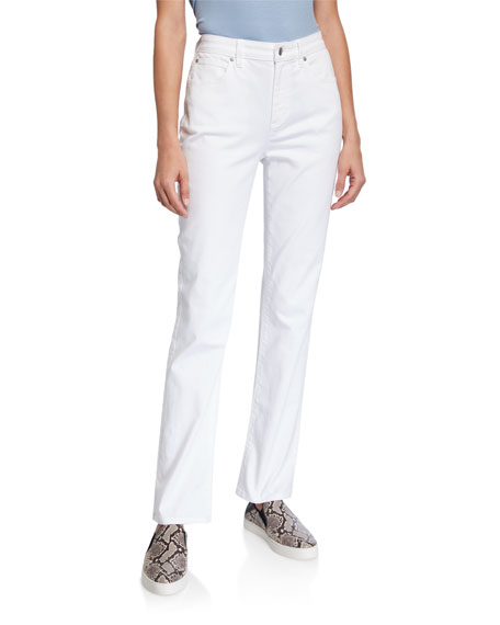 Image 1 of 4: Eileen Fisher Plus Size High-Rise Straight-Leg Denim Jeans