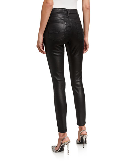 Image 2 of 3: AG Adriano Goldschmied Farrah Leatherette High-Rise Ankle Skinny Jeans
