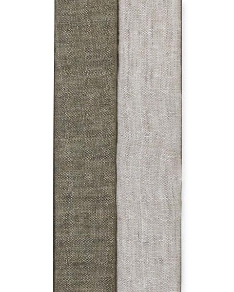 Eileen Fisher Washed Organic Linen Delave Shaped Blazer