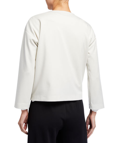 Image 4 of 4: Eileen Fisher Flex Lyocell Ponte Zip-Front Jacket