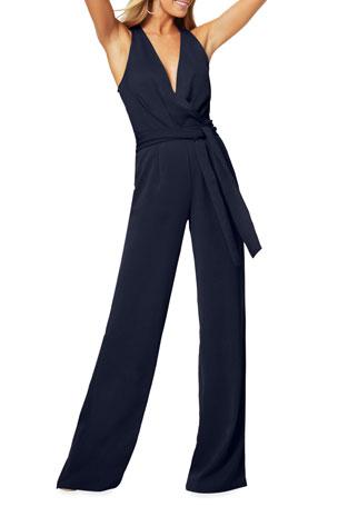 Ramy Brook Taylor Tie-Waist Jumpsuit
