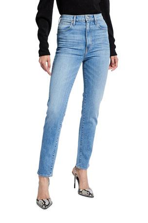 SLVRLAKE Beatnik High-Rise Ankle Slim Jeans