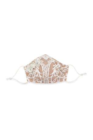 Bronx and Banco Madeline Embellished Lace Reusable Cloth Mask Face Covering