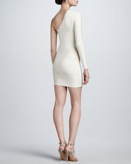 One-Sleeve Bandage Dress