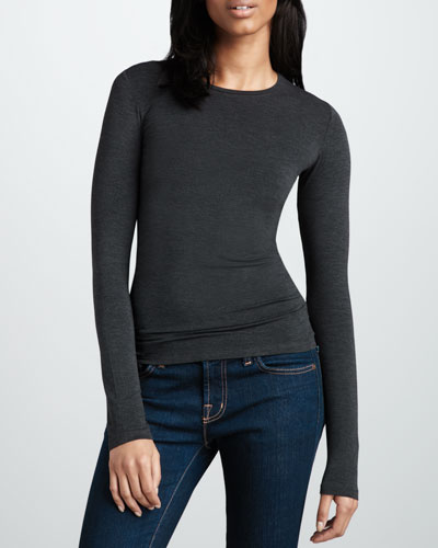 Majestic Paris for Neiman Marcus Crewneck Soft Touch Top