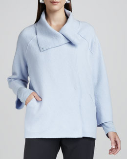 Eileen Fisher Boiled-Wool Coat