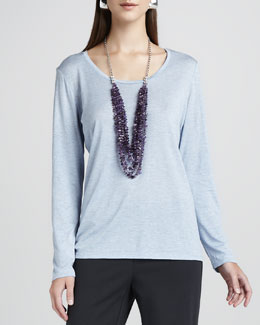 Eileen Fisher Long-Sleeve Jersey Tee