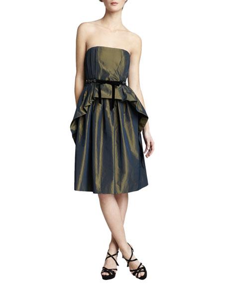 Gracie Strapless Taffeta Dress