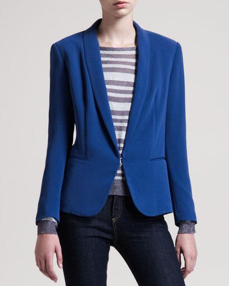 Sliver Tuxedo Jacket, Blue