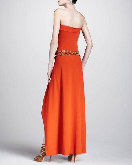 Strapless Coverup Maxi Dress, Sienna