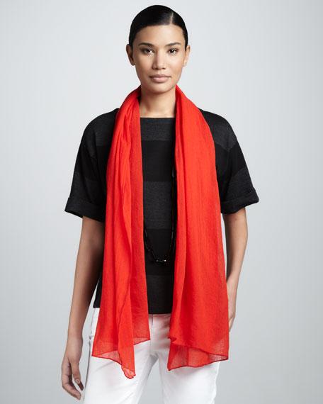 Gauzy Wool Scarf, Lava