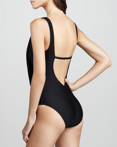 Opening Night Cowl Maillot Swimsuit