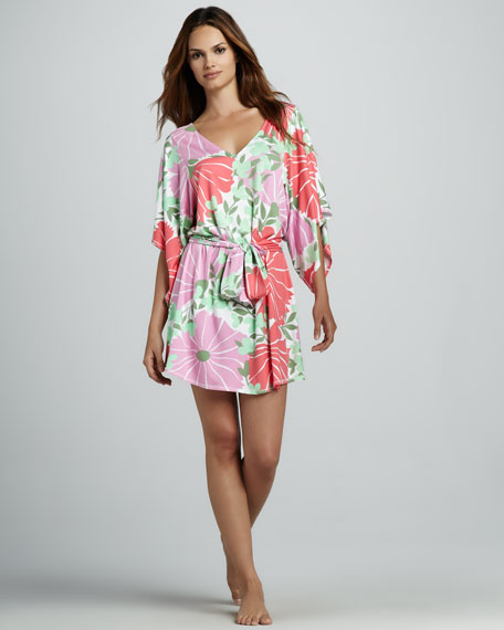 Amalfi Floral-Print Belted Coverup