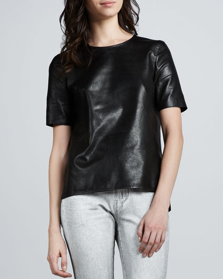 Loose Leather Tee