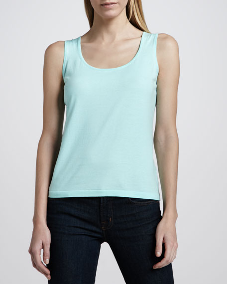 Neiman Marcus Sleeveless Knit Tank