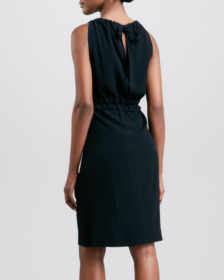 katia sleeveless tie-neck dress
