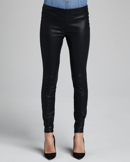 Pussy Cat Faux-Leather Leggings