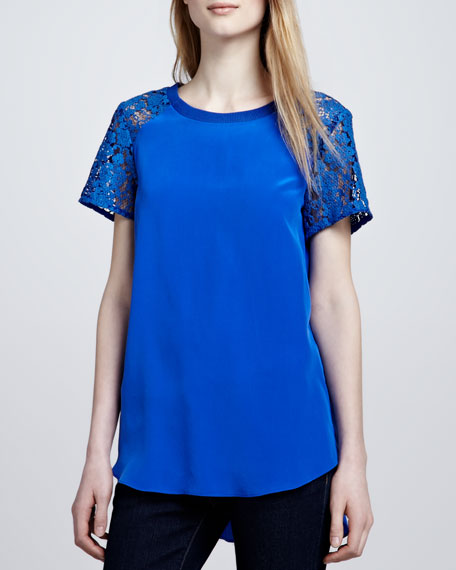 Silk and Lace Tee