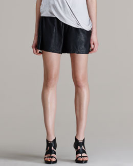 HELMUT Helmut Lang Washed Leather Shorts