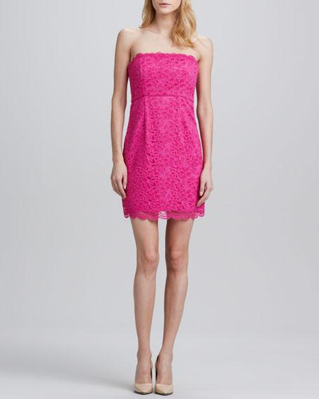 Walker Strapless  Lace Dress